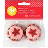 Wilton 100-Count Mini Holiday Floral Baking Cup from Blain's Farm and Fleet