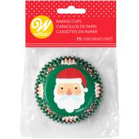 Wilton 75-Count Santa and Candy Cane Baking Cup from Blain's Farm and Fleet