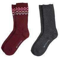 Columbia Misses' 2-Pack Wool Fair Aisle Crew Socks from Blain's Farm and Fleet