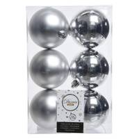 Kaemingk International 6-Piece 80mm Silver Shatterproof Ornaments from Blain's Farm and Fleet
