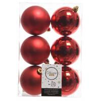 Kaemingk International 6-Piece 80mm Red Shatterproof Ornaments from Blain's Farm and Fleet