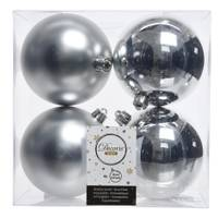 Kaemingk International 4-Piece 100mm Silver Shatterproof Ornaments from Blain's Farm and Fleet