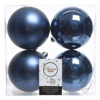 Kaemingk International 4-Piece 100mm Night Blue Shatterproof Ornaments from Blain's Farm and Fleet