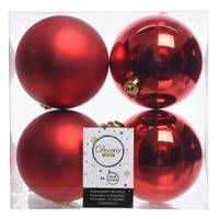 Kaemingk International 4-Piece 100mm Red Shatterproof Ornaments from Blain's Farm and Fleet