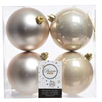 Kaemingk International 4-Piece 100mm Pearl Shatterproof Ornaments from Blain's Farm and Fleet