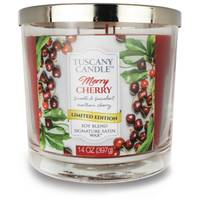 Tuscany Candle 14 oz Merry Cherry Jar Candle from Blain's Farm and Fleet