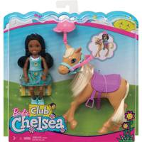 Mattel Barbie Chelsea Doll & Horse from Blain's Farm and Fleet