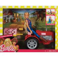 Mattel Barbie Doll and Tractor from Blain's Farm and Fleet