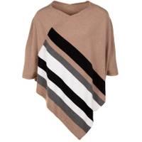 CG I CG Women's Stripe Poncho Praline from Blain's Farm and Fleet