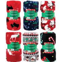 Northpoint Trading Holiday Plush Throw Assortment from Blain's Farm and Fleet