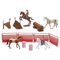 New Ray Valley Ranch 1:18 Horse Playset Assortment from Blain's Farm and Fleet