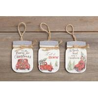 Your Hearts Delight by Audrey Mason Jar Ornament Assortment from Blain's Farm and Fleet