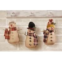 Your Hearts Delight by Audrey Snowman Plaid Ornament Assortment from Blain's Farm and Fleet
