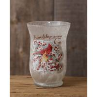 Your Hearts Delight by Audrey Cardinal Small Glass Jar with Lights from Blain's Farm and Fleet