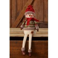 Your Hearts Delight by Audrey Snow Lodge Sitting Snowman from Blain's Farm and Fleet