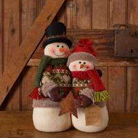 Your Hearts Delight by Audrey Snow Lodge Snowman Family from Blain's Farm and Fleet