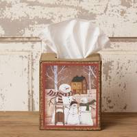Your Hearts Delight by Audrey Snowman Family Tissue Box Cover from Blain's Farm and Fleet