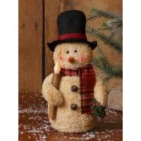 Your Hearts Delight by Audrey Snowman with LED Candle from Blain's Farm and Fleet
