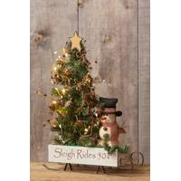 Your Hearts Delight by Audrey Christmas Sleigh with Snowman from Blain's Farm and Fleet