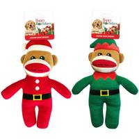 Pet Factory Holiday Sock Monkey Assortment from Blain's Farm and Fleet
