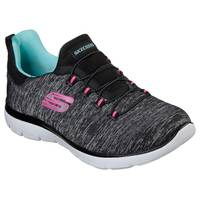 Skechers Women's Black & Light Blue Summits - Quick Getaway Shoes from Blain's Farm and Fleet