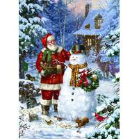 LPG Greetings 18-Count Santa Making a Snowman Cards from Blain's Farm and Fleet