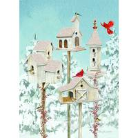 LPG Greetings 14-Count Winter Holiday Birdhouse Cards from Blain's Farm and Fleet
