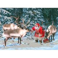 LPG Greetings 14-Count Reindeer Treat Time Holiday Cards from Blain's Farm and Fleet