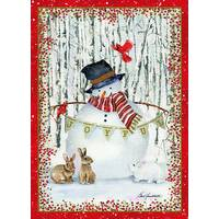 LPG Greetings 14-Count Joyful Snowman Foil Holiday Cards from Blain's Farm and Fleet
