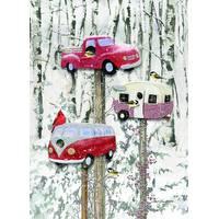 LPG Greetings 12-Count Retro Birdhouses Holiday Cards from Blain's Farm and Fleet