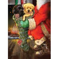 LPG Greetings 12-Count Fireside Puppies Christmas Cards from Blain's Farm and Fleet