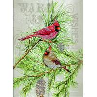 LPG Greetings 12-Count Cardinals on Pine 3-D Holiday Cards from Blain's Farm and Fleet