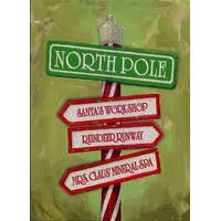 LPG Greetings 12-Count North Pole Sign 3-D Christmas Cards from Blain's Farm and Fleet