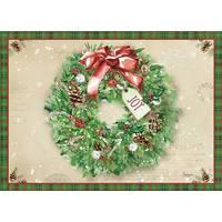 LPG Greetings 16-Count Holly Wreath  Christmas Cards from Blain's Farm and Fleet