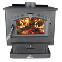 Ashley EPA LG Pedestal Base Wood Stove with Blower from Blain's Farm and Fleet