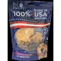 Pet Factory 8 oz USA Beefhide Assortment Flavor Chips from Blain's Farm and Fleet