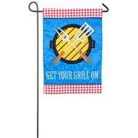 Evergreen Enterprises Get Your Grill On Garden Flag from Blain's Farm and Fleet