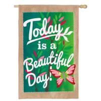 Evergreen Enterprises Beautiful Day House Flag from Blain's Farm and Fleet
