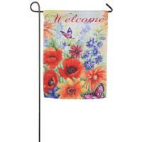 Evergreen Enterprises Bright Wildflowers Welcome Garden Flag from Blain's Farm and Fleet