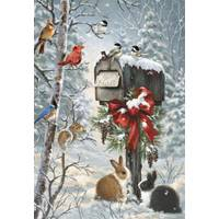 Leanin' Tree 10-Count Mailbox Bird Classic Christmas Cards from Blain's Farm and Fleet