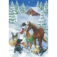 Leanin' Tree 10-Count Horse & Friends Classic Holiday Cards from Blain's Farm and Fleet
