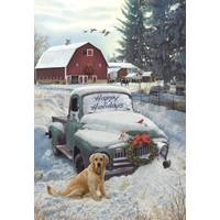 Leanin' Tree 10-Count Holiday Truck Classicsic Holiday Cards from Blain's Farm and Fleet