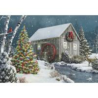 Leanin' Tree 10-Count Christmas Tree Classic Christmas Cards from Blain's Farm and Fleet