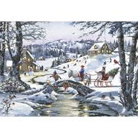 Leanin' Tree 10-Count Christmas Sleigh Classic Christmas Cards from Blain's Farm and Fleet