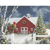 Leanin' Tree 12-Count Red Barn Notelet Christmas Cards from Blain's Farm and Fleet