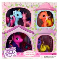 Gi-Go Toys 5-Pack Wonder Pony Land Pony's Castle Unicorn Family Assorted from Blain's Farm and Fleet