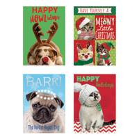 Deluxe 12-Count Pets Christmas Cards from Blain's Farm and Fleet