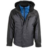 ZeroXposur Men's Cobra System Jacket Black Static from Blain's Farm and Fleet
