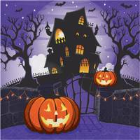 Creative Converting 16 ct Haunted House Lunch Napkin from Blain's Farm and Fleet