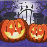 Creative Converting 16 ct Haunted House Beverage Napkin from Blain's Farm and Fleet